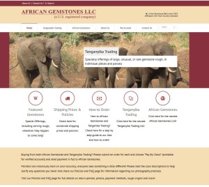 unique website design - african gemstones